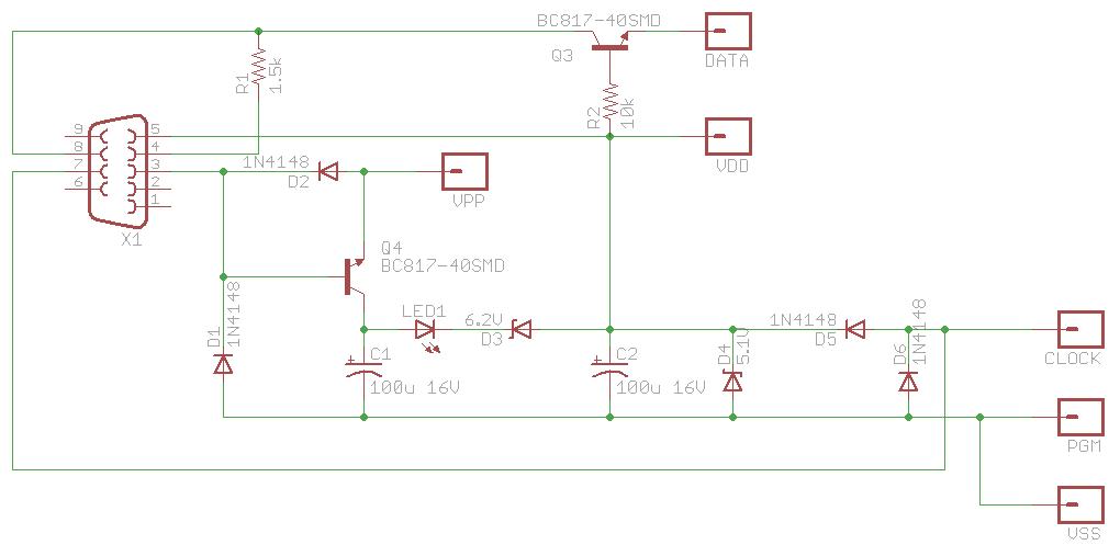 Схема программатора JDM PIC